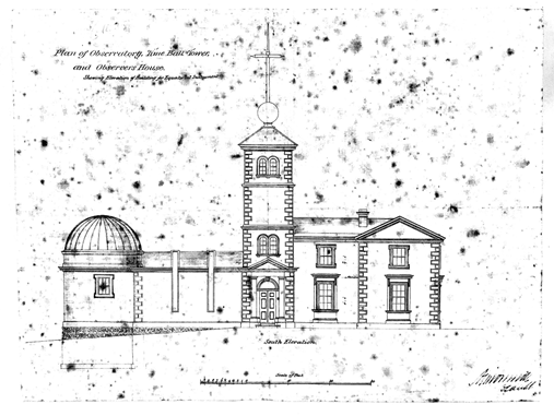 The original plan of the Sydney Observatory c. 1850s. New South Wales State Archives: NRS 13992, Parramatta and Sydney Observatory Correspondence and Reports [Plan 2431].
